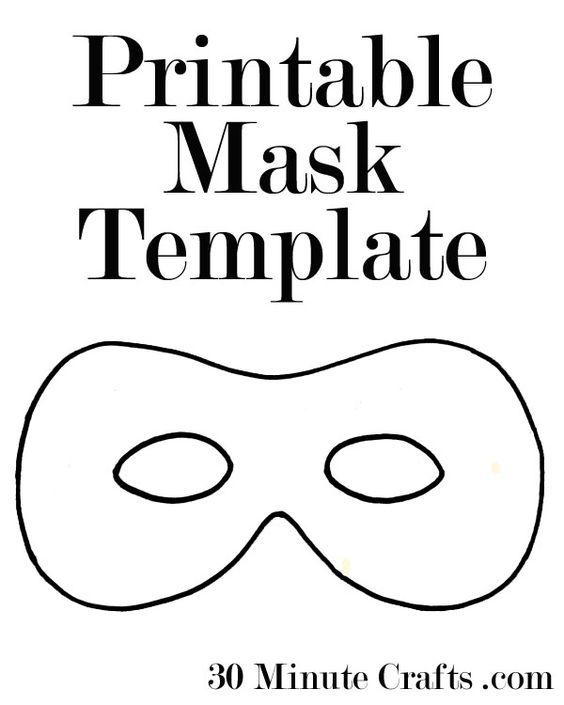 Printable Halloween Mask Templates a superhero mask animal mask – Printable Mask Template
