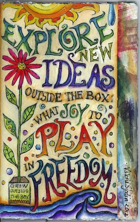 visual blessings: Explore New Ideas Outside the Box ~ Painting the Journal Cover in 4 Steps