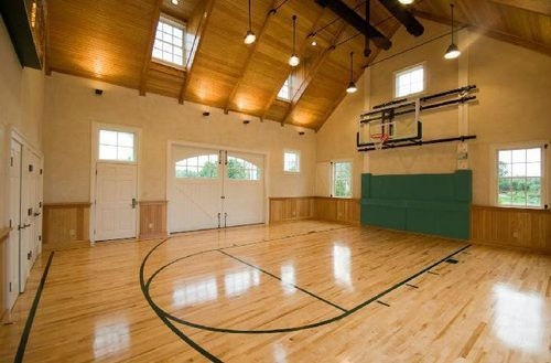 Ballin Indoor Basketball Courts For March Madness Freaks On The Market Curbed National Indoor Basketball Court Home Basketball Court Basketball Court