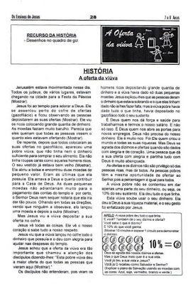 Historia Biblica A Oferta Da Viuva Pobre A Oferta Da Viuvinha