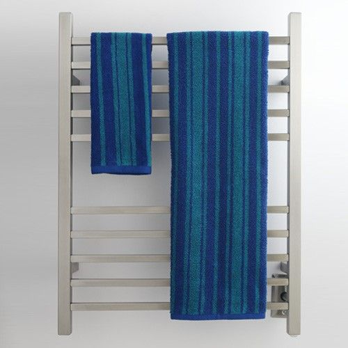 The Radiant Square Hardwired Towel Warmer is all about saving you energy while still delivering quality heat. The squared design can hold plenty of towels and keeps them toasty warm while you shower.
