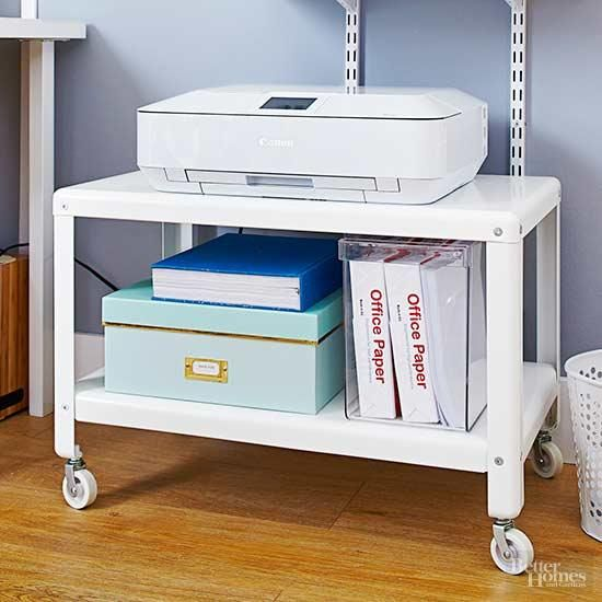 Diy Printer Stand And Storage For My Cricut Machines Printer Storage Storage Hacks Diy Printer Stand