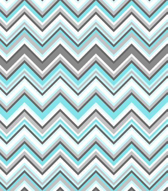 Nursery Fabric-Simply Silhouette  Chevron Flannel, , hi-res