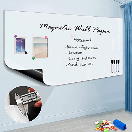 Zhidian Magnetic Whiteboard Sticker For Wall Door 48 X 36 Large Self Adhesive White Board Wallp Whiteboard Sticker Magnetic White Board Dry Erase Whiteboard