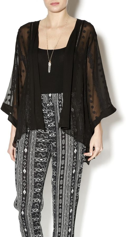 Zoa New York Kimono Wrap Top