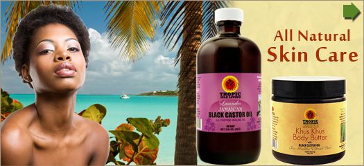 Lavender castor oil from tropic isle.