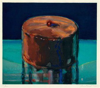 Dark Cake by Wayne Thiebaud