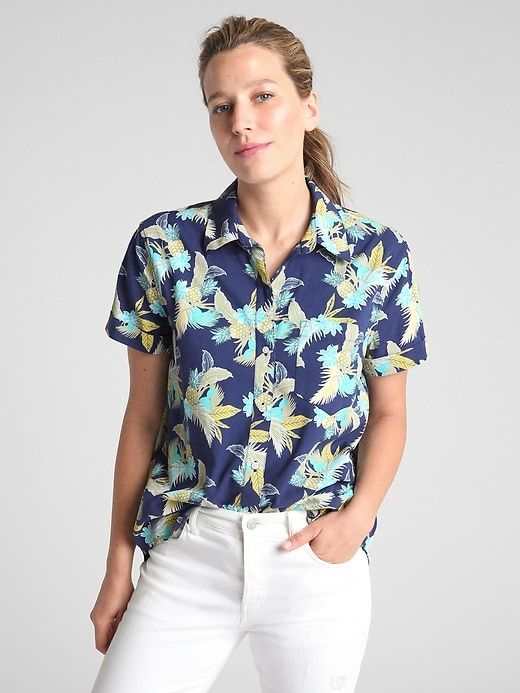Women's Clothing Women's Pineapple Print Blouse Button Down V-Neck Shirt  Office Lady Tops Shirt Clothing, Shoes & Accessories vishawatch.com