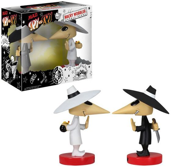 Mad Magazine Spy vs. Spy Bobble Head 2-Pack