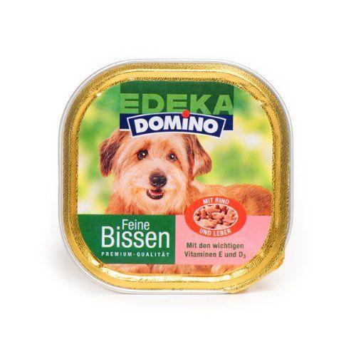 Aus der Kategorie Nassfutter  gibt es, zum Preis von EUR 1,61  Domino feine Bissen mit Rind, Leber, Vitamin E und D.