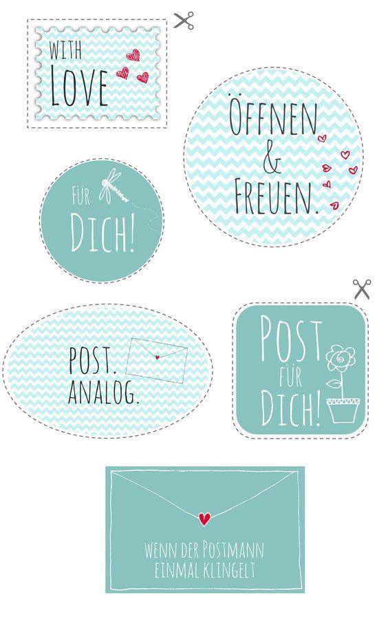 printable f r analoge post printable for sending letters via blog besonderes. Black Bedroom Furniture Sets. Home Design Ideas