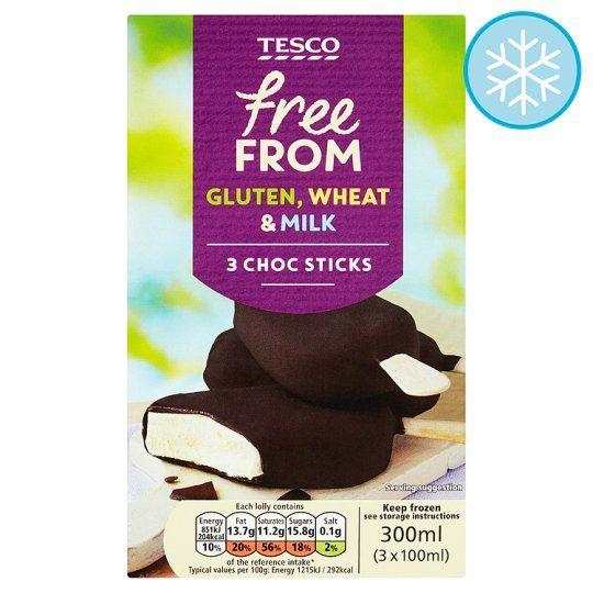 Free From Ice Cream Chocolate Sticks 3x100 Chocolate