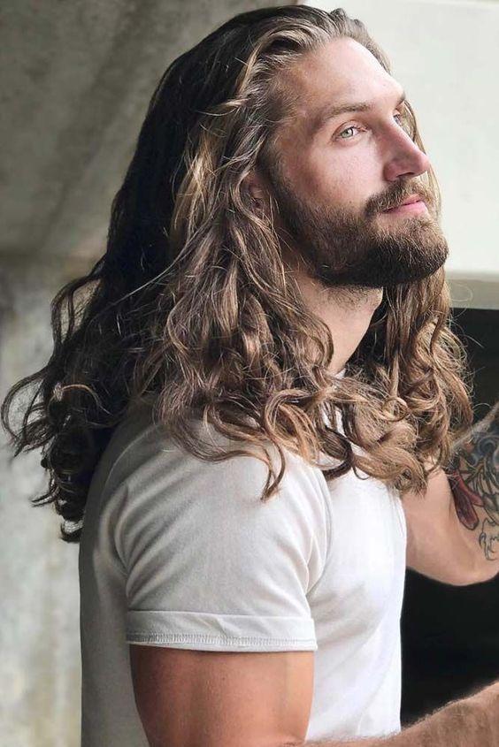 Crazy Tools For Pinterest Beautiful Man Male Model Handsome Boys Cute Guys Stunning Male Att Long Hair Styles Long Curly Hair Men Long Hair Styles Men