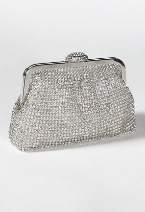 Soft Full Rhinestone Pouch Frame Handbag from Camille La Vie and Group USA prom clutch