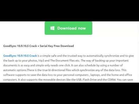 Goodsync 10 9 10 5 Serial Key Free Free Document File Youtube