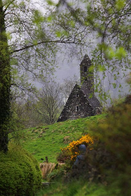 Ancient church, Ireland .. this is the St Keveins 6th century in Gendolaugh: