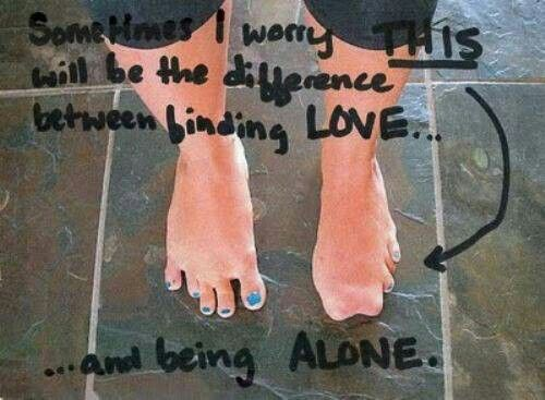 Between finding love and being alone.