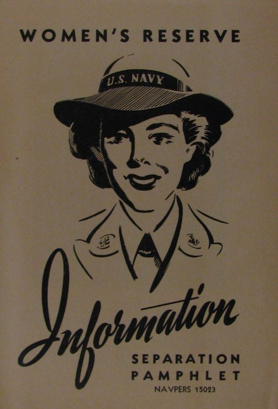 WAVES' Information Pamphlet for leaving the Navy after World War II ended.