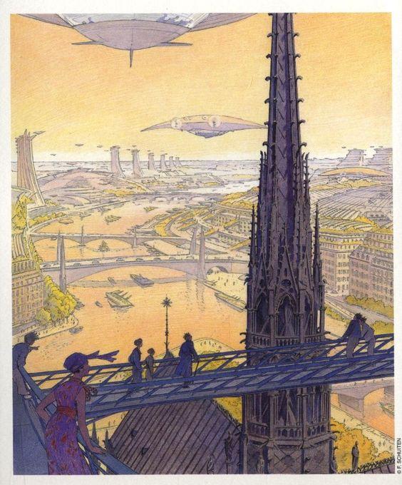 Ville du futur schuiten bd pinterest ville du futur for Architecture du futur