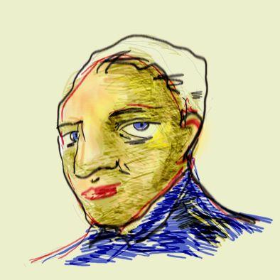 Eduardo portrait. Ilustração digital. Paulo Moura, 2013.
