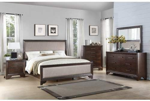 Gracie Oaks Mardis Panel 4 Piece Bedroom Set Weight Button
