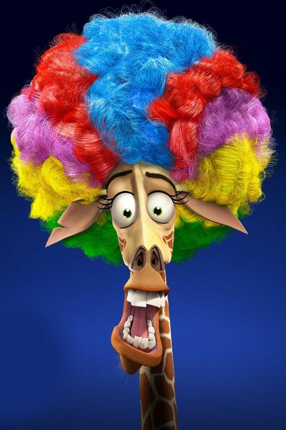 Rainbow afro on that giraffe dude from madagascar 3 lol - Girafe madagascar ...