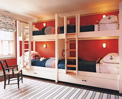 Comfortable Kids Bunk Beds With Stairs And Slide For Small