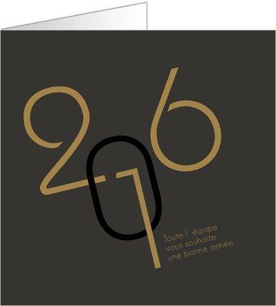 Carte de vœux élégante. Disponible en 4 formats et à personnaliser sur Popcarte.com