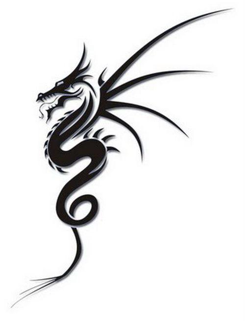 Tribal Drago Simple Tattoo Design ~ http://tattooeve.com ...