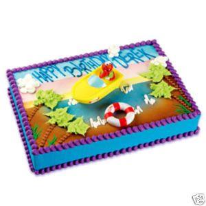ELMO BEACH Sesame Street Cake Decoration Topper KIT SET
