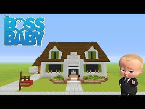 Minecraft Tutorial How To Make The Boss Babys House The Templeton House Boss Baby Youtube Minecraft Banner Designs Minecraft Projects Minecraft