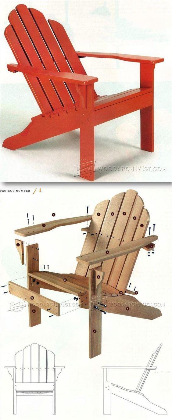 These Free Adirondack Chair Plans Will Help You Build A Great Looking Chair In Just A Few Hours It W Plans De Meubles Diy Meubles De Jardin Chaises En Palette