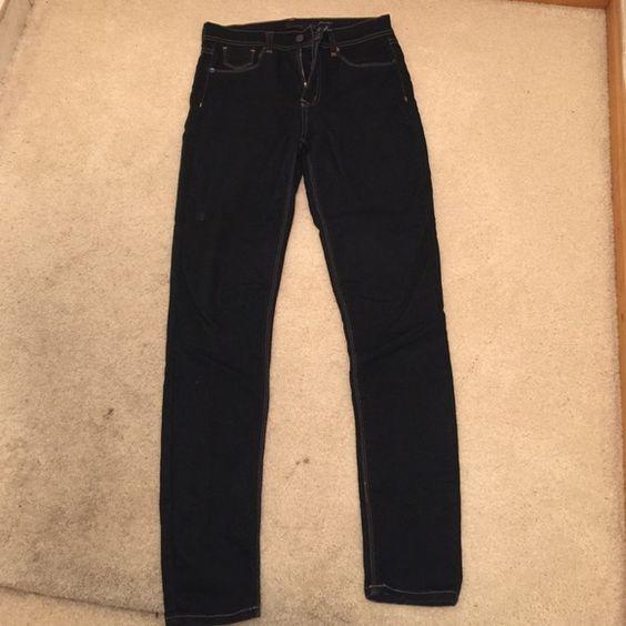 Dark blue stretch jeans Stretchy dark blue high rise skinny jeans Jeans Skinny