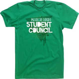 custom student council t shirt tee high school design