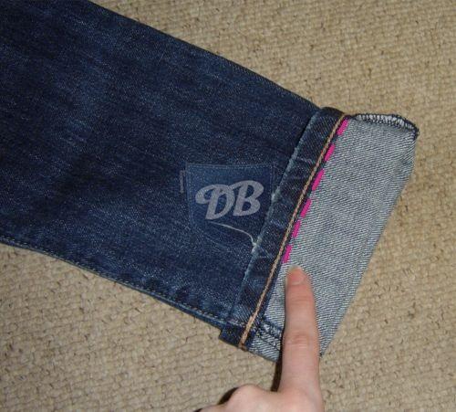 ... shorten jeans, keeping original hem