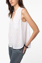 COPE Sleeveless Button-Down Tank  #UrbanOutfitters