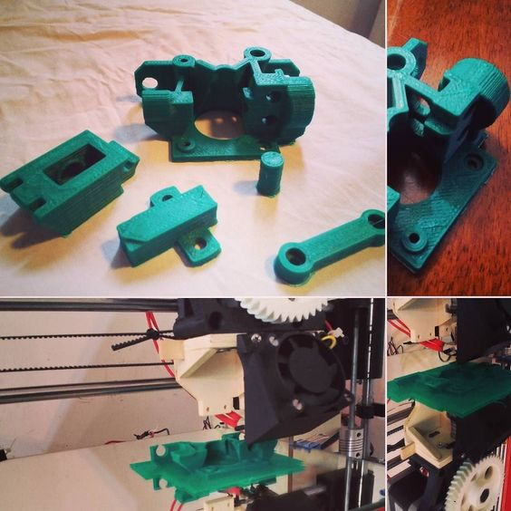 #3dprinting #makers #prusai3 #airtripper #bowden airtripper for bowden extruder printed in abs at 230 with 110 for bed layer 0.3 40mm\s for a dual color 3d printer by maveriky87