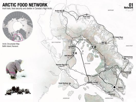 Award: Regional food-gathering nodes and logistics network, Iqaluit, NU, Canada.    This is what the prior chart is based off of.
