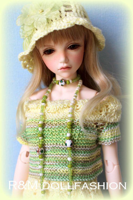 R M Dollfashion Romantic Line OOAK Handknit Set for Iplehouse JID MSD BJD Doll   eBay