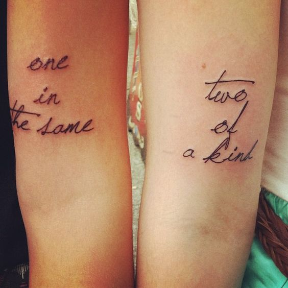 Tattoo Quotes For Husband And Wife: My Cousin And His Wife's Sweet Tattoos.