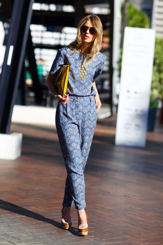 Attention everyone: pants and geometric prints very on trend for next fall...