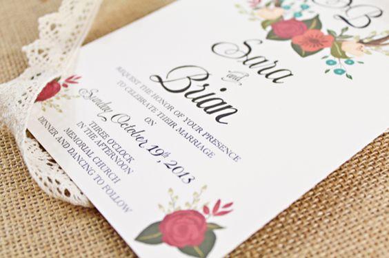Antler wedding invitations / Behold Designz