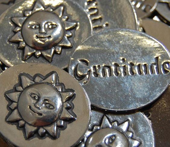 Sun Gratitude Inspiration Coins SET OF 10 | Etsy