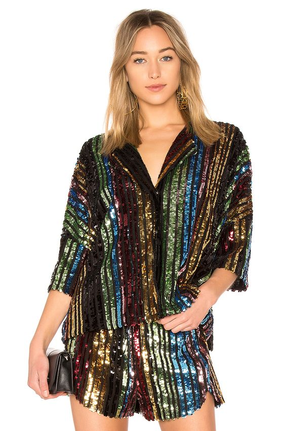 LPA Shirt 193 in Multi Sequin