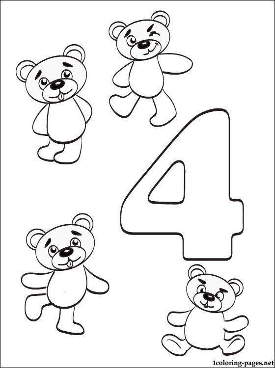 Number Four Coloring Page Fresh Color The Number 4 Coloring Page Twisty Noodle Shape Worksheets For Preschool Numbers Preschool Printable Numbers