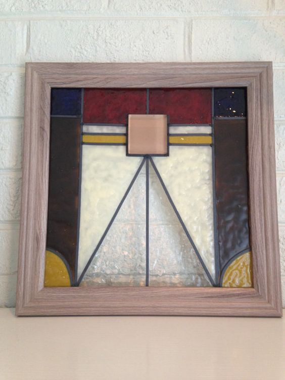 Stained+glass++craftsman+style++faux+stained+by+TurtleDoveGlass