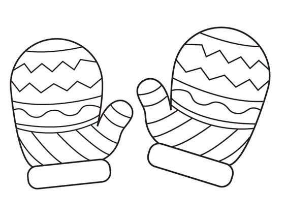 large coloring pages for mittens | Mitten Coloring Page | Tél - winter | Pinterest | Coloring ...