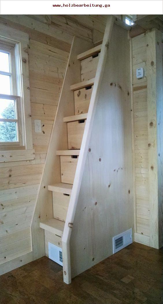 Naturholztreppe Fur Einen Engen Raum Mit Schubladen Einen Engen Naturholztreppe Schubladen Kleines Haus Treppe Kleines Haus Einrichtung Mikrohaus Design