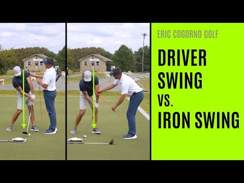 Golf Driver Swing Vs Iron Swing Differences Youtube Golf Driver Swing Golf Drivers Golf Swing For Beginners