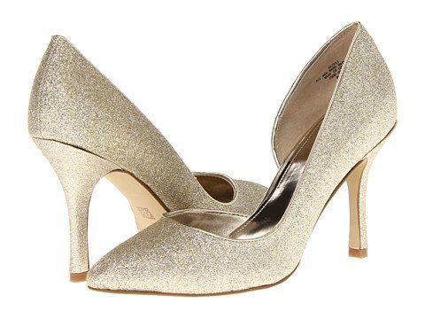 "Amazon.com: Women's AK Anne Klein D'Orsay Pumps ""Zya"" - Light Gold ..."